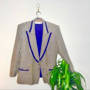 VTG Purple Double Breasted Oversized Blazer